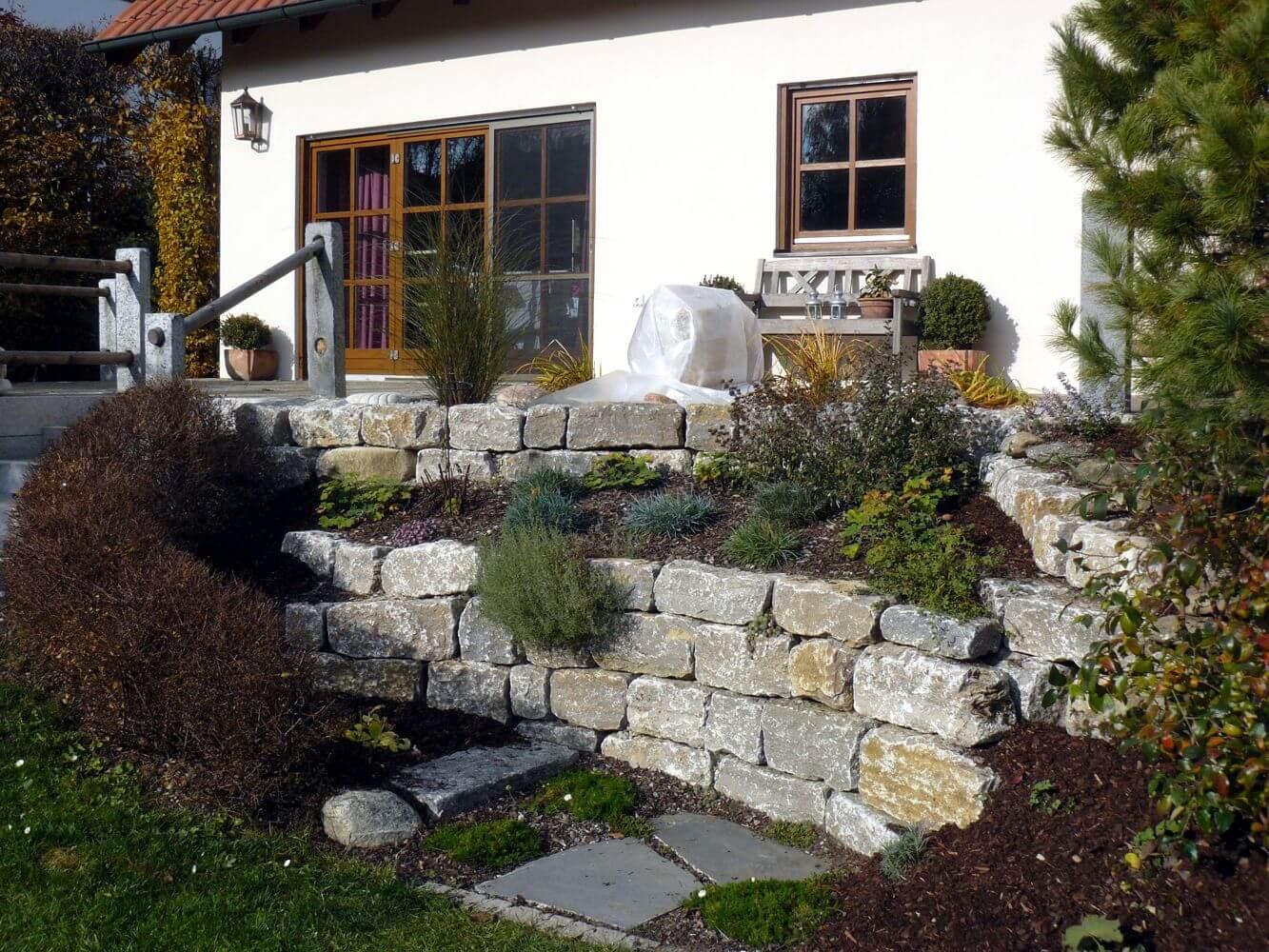 trockenmauern / natursteinmauern vom fachmann gebaut - planung und